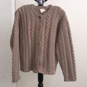 Vintage JCrew Wool Cardigan sz L